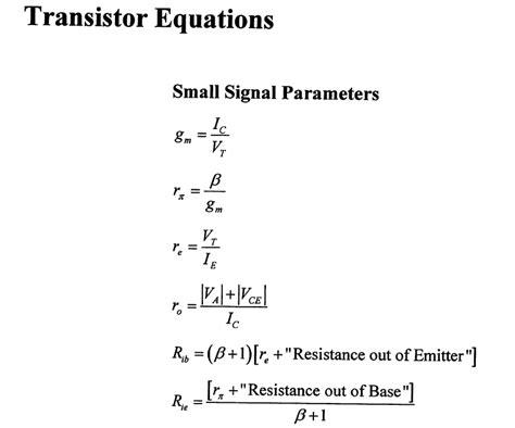 transistor equations transistor equations 28 images biasing calculations bipolar junction transistors npn