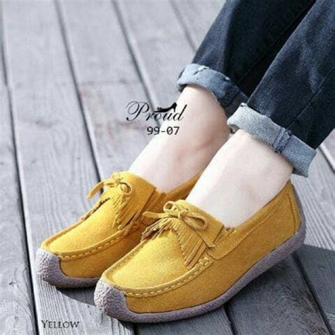 Flat Shoes Suede Wanita Gareu Shoes G 7047 sepatu wanita 6 warna flat shoes suede loafers slip on elevenia