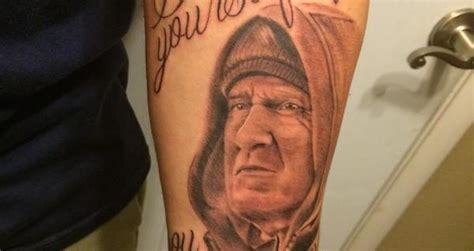 tom brady tattoo local gets belichick yourself before you wreck