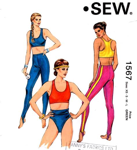 sewing pattern workout clothes athletic exercise tops and shorts sewing pattern yoga gymnasts
