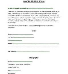 Photographic Release Form Template by Model Release Forms Yates Photography