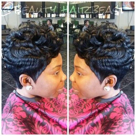 Short 27 piece quick weave natural looking   short cuts