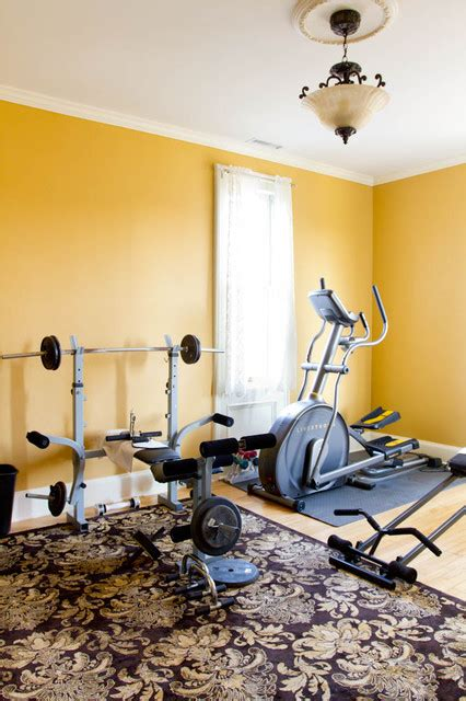 workout room traditional home new york by rikki snyder