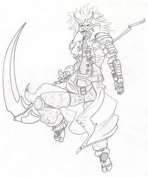 warrior w hannya mask by redkarasu on deviantart