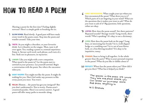 how to read the read carry a poem
