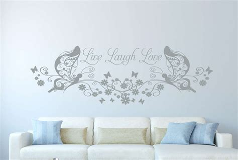 live laugh love l shade live laugh love butterfly floral wall decal wall art decal