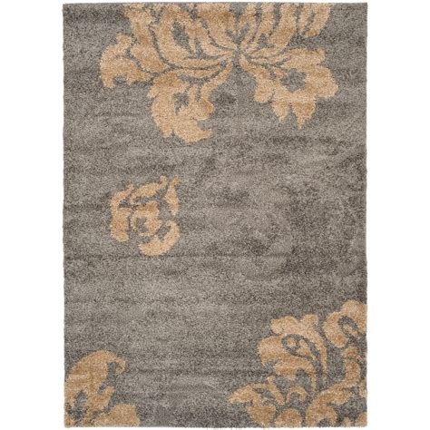 florida rugs safavieh florida shag gray beige 5 ft 3 in x 7 ft 6 in area rug sg458 8013 5 the home depot