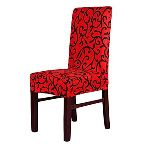 Dining Room Chair Covers Pattern 4 X Soft Fit Stretch Dining Room Chair Covers Printed Pattern Banquet Chair Seat