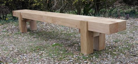 long garden bench bespoke rustic oak 2 beam long garden bench custom made garden