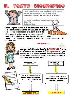 testo umoristico scuola media il testo biografico schede didattiche scuola primaria