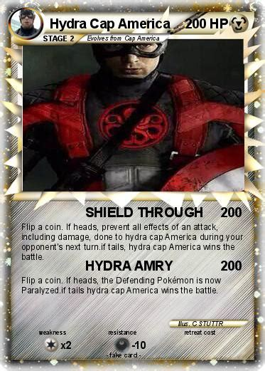Kaos Capt America Shield pok 233 mon hydra cap america shield through my card