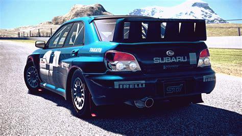 subaru rally exhaust gt6 subaru impreza sedan wrx sti rally car 05 exhaust