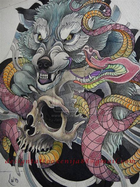 tattoo designs for quot wolf tattoo japanese style