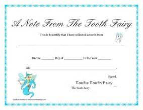 tooth fairy certificate kids pinterest