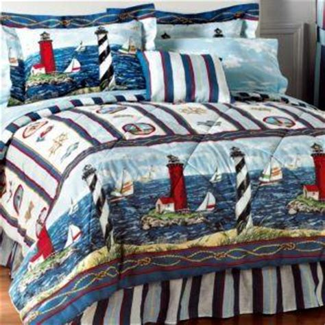 Lighthouse Bedding by New Nautical Lighthouse Sail Boat Comforter Sheet Set Bed
