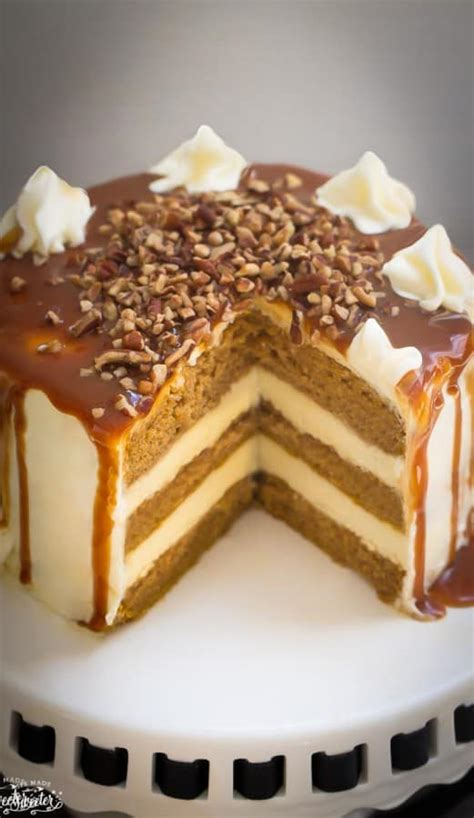 scow cider apple cider spice cake with salted caramel drizzle life