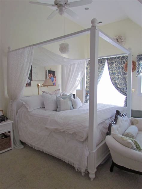 White Canopy Bed Diy Bed Canopy With A Help From White