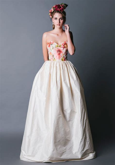 flower design wedding dresses 20 floral wedding dresses that will take your breath away