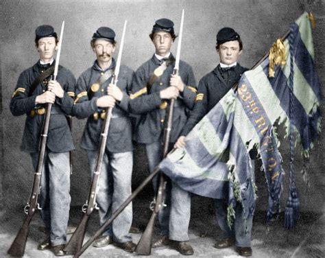 civil war color photos union soldier national color guard colorized civil