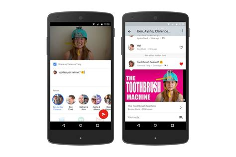 youtube moblie youtube built a messaging feature into its mobile app