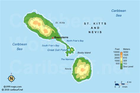 st kitts and nevis map nevis maps
