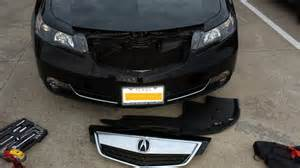 Acura Front Grill Remove The Front Grill Or Beak On 2013 Tl Acurazine