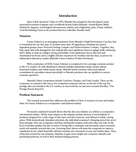 market research document template market research report template 2 professional and