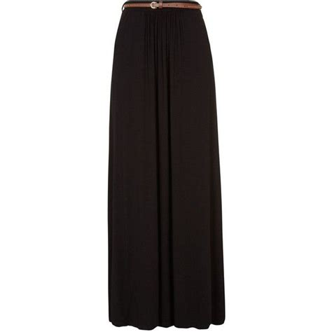 black jersey belted maxi skirt my closet