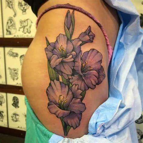 tattoo on buttocks 60 one trendy gladiolus tattoos golfian