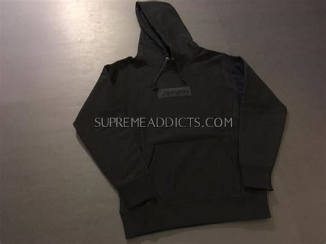 New Supreme Hoodie Original Black Box Logo supreme tonal box logo hoodie black supreme addicts