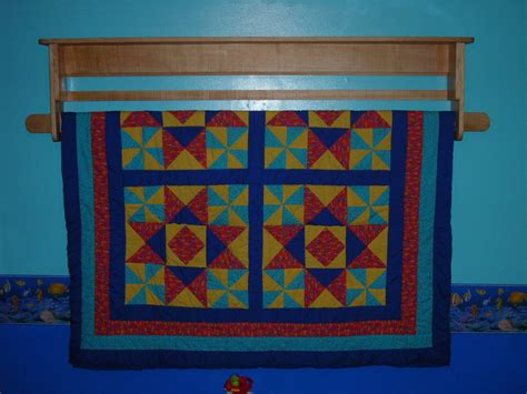 Quilt Rack Shelf by Maple Quilt Rack And Shelf By Blackdogwoodshop