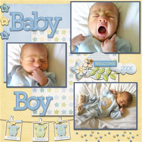 baby scrapbook layout exles 1000 images about scrapbooking on pinterest