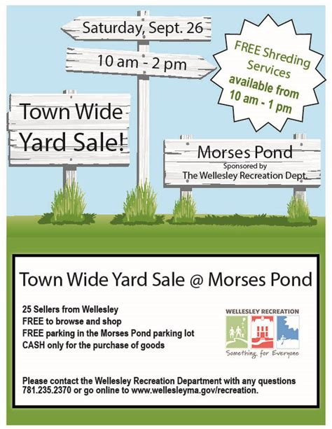 sle of news report town wide yard sale at morses pond this saturday the