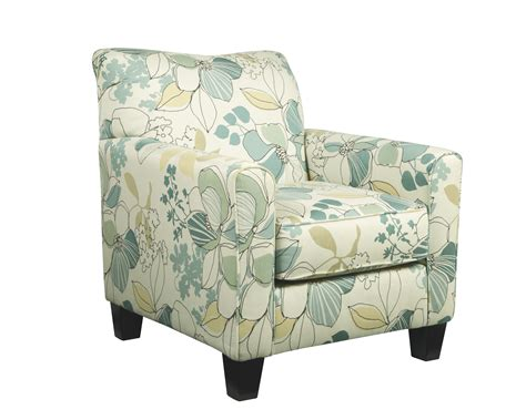 Grey Floral Armchair Signature Design By Goedekers