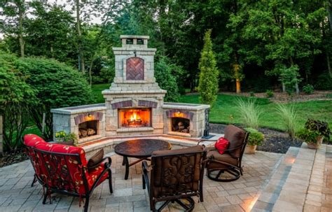 backyard patio designs with fireplace 20 best stone patio ideas for your backyard home and