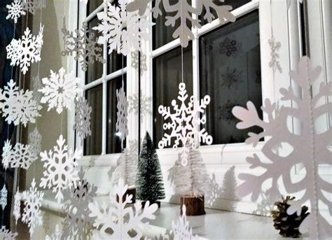 white christmas snowflake garland christmas decorations xmas