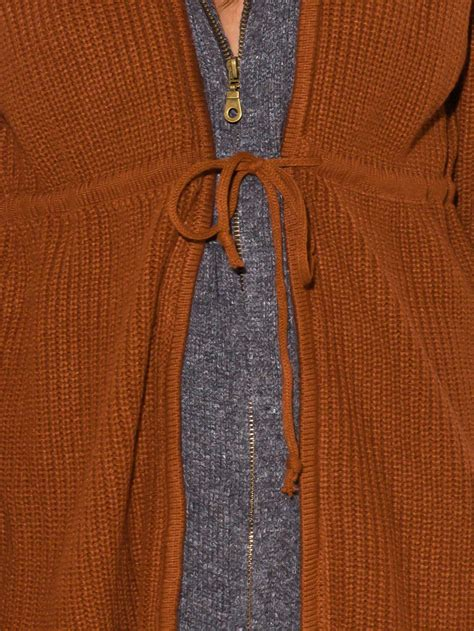 rust brown rust brown zip up hooded sweater modishonline