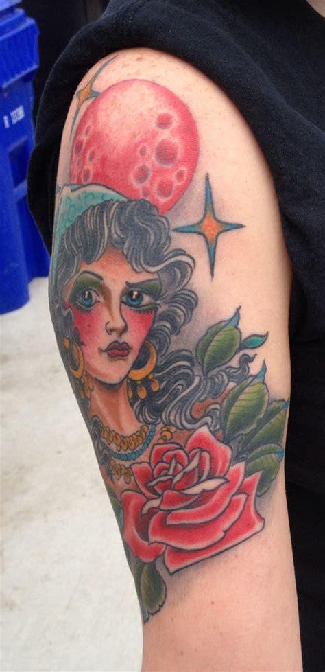 blood moon tattoo blood moon