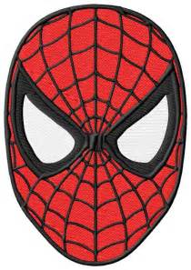 spiderman face embroidery designs 2 sizes single designs kewl stitches