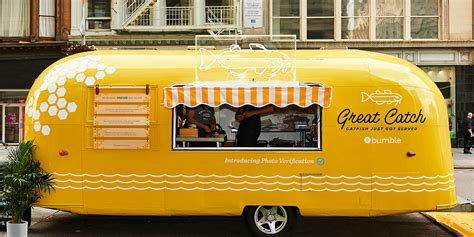 Where To Put Tv by Bumble Created A Food Truck That Served Actual Catfish To