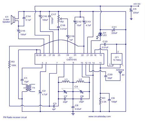 fm radio receiver circuit diagram pdf cxa1019 fm receiver circuitelectronics project circuts