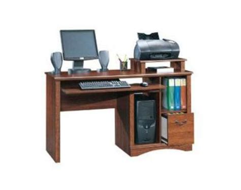 sauder camden county planked cherry computer desk at menards 174