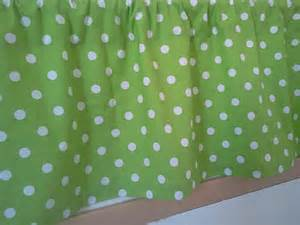 Lime Green Polka Dot Curtains Items Similar To Lime Green And White Polka Valance Curtains One Valance Curtain On Etsy
