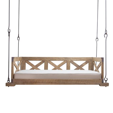 bed with swing bed swing w x sides and back lowcountry originals