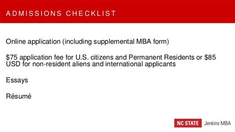 Nc State Mba Gmat Waiver by Nc State Jenkins Mba Information Session
