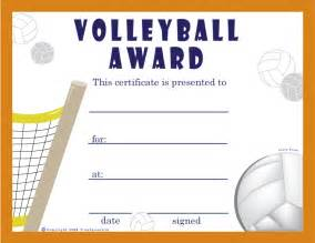 Printable Volleyball Awards | free printable volleyball award certificates