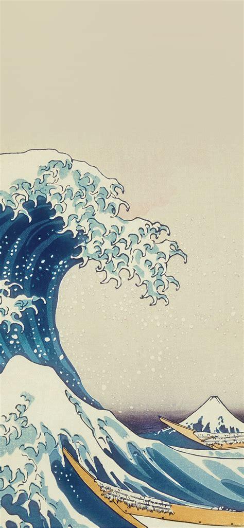 wave art hokusai painting classic art illustration
