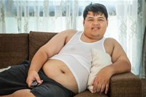 fat guy on couch fat lazy guy on the couch stock photo image 26248580