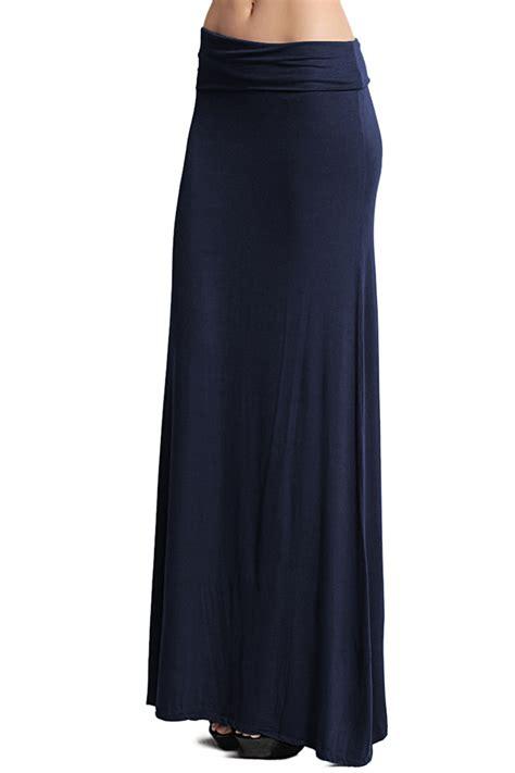 themogan casual solid plain draped jersey knit maxi