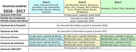 Congés Scolaires 2016 2017 Tableau Des Vacances Scolaires 2014 2015 Et 233 Es